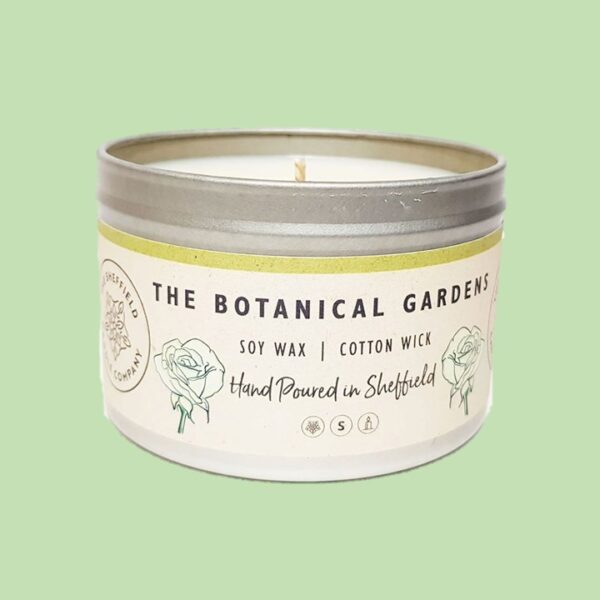 botanical gardens candle by sheffield candles