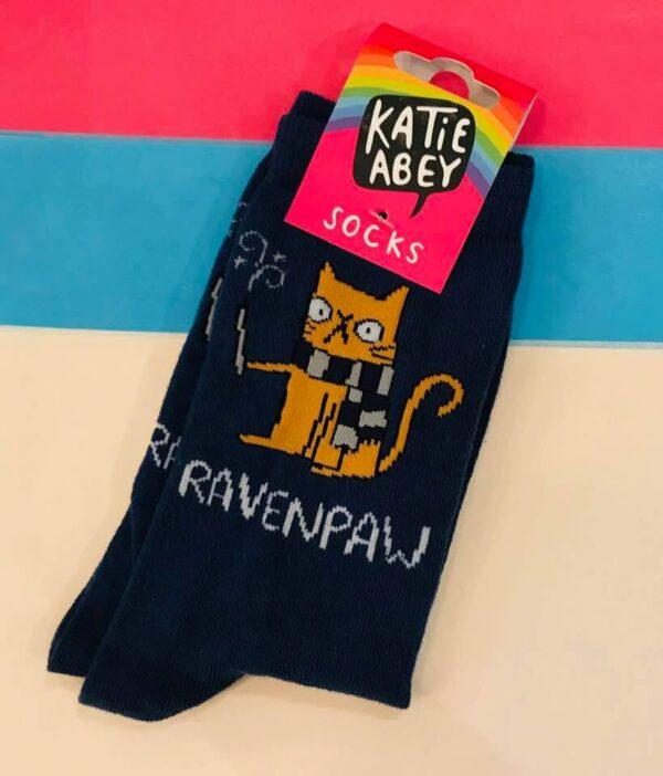 ravenclaw pun socks by katie abey