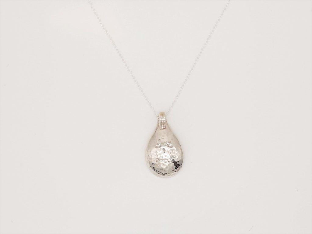 sterling silver salt spoon pendant necklace