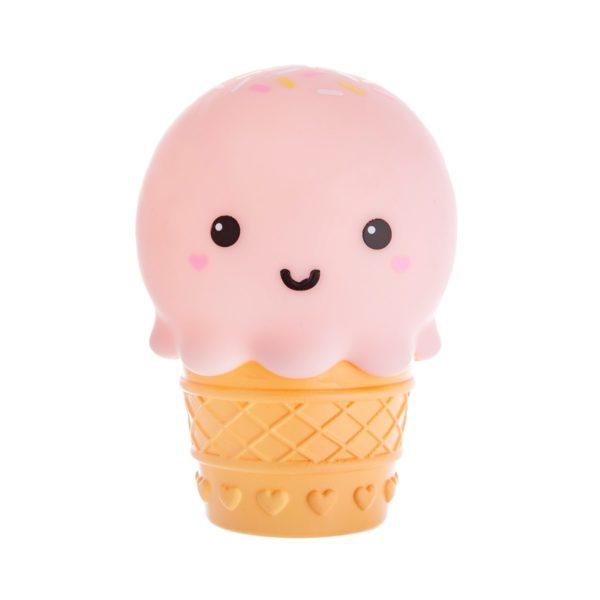 Pink kawaii ice cream night light