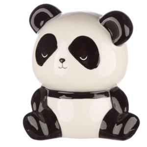 Black and white panda money box for children