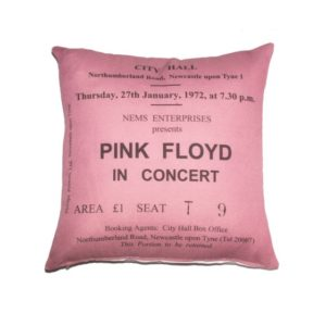 pink cushion cover concert ticket design for pink floyd
