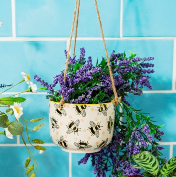 bee pattern planter home gift