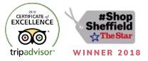 Tripadvisor Certificate of Excellence | Shop Sheffield Winner
