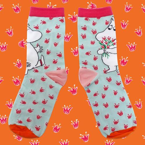 Moomin socks gift blue and pink