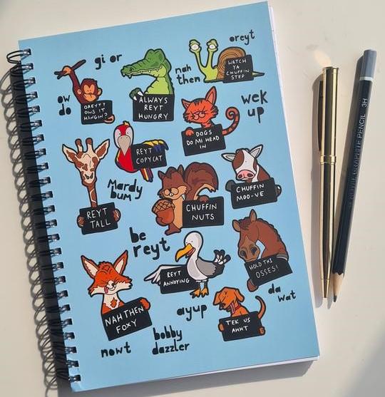 yorkshire sayings animal notebook by luke horton