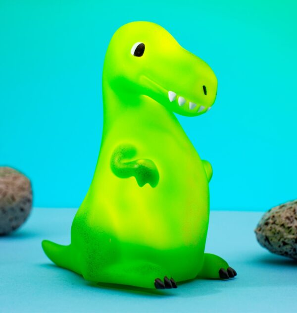 green trex dinosaur led night light by sass and belle