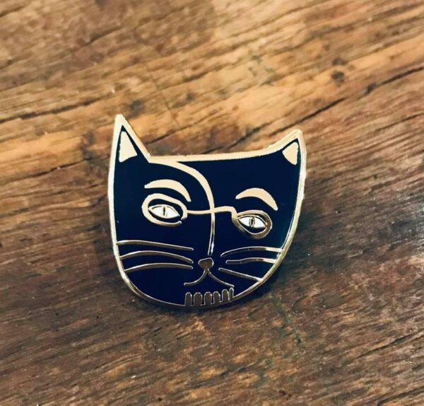 Henri Matisse enamel cat pin badge