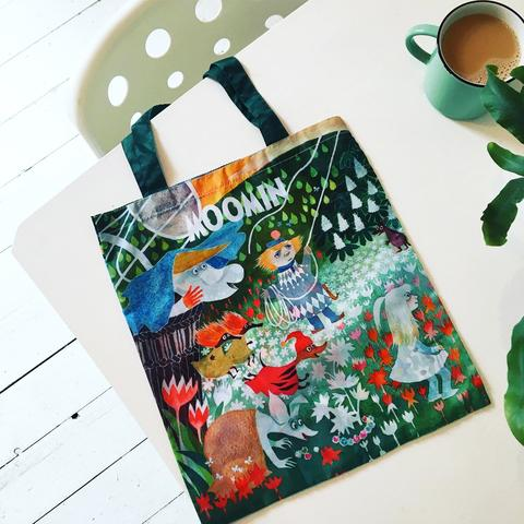 moomin dangerous journey foldaway shopping bag